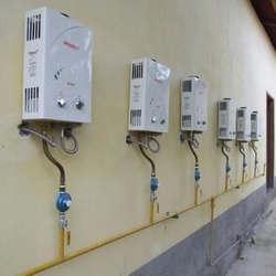 Instalação aquecedor a gás