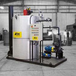 Aquecedor de fluido térmico para usina de asfalto