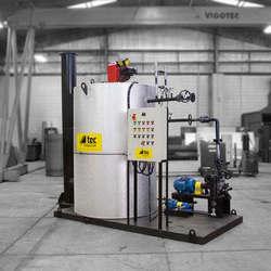 Aquecedores de fluido térmico para indústria alimentícia